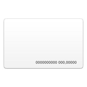 Бесконтактная пластиковая карта Em-Marine с номером и с прорезью