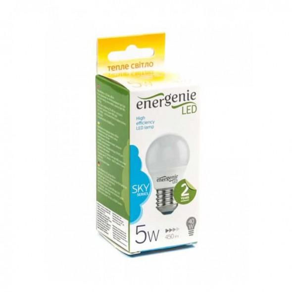 LED лампа EnerGenie EG-LED5W-E27K30-12 - фото