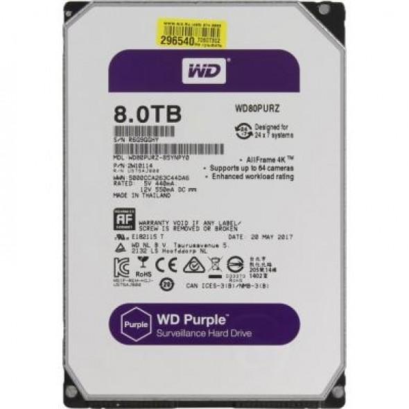 """Жесткий диск 3.5"""" 8TB Western Digital (WD80PURZ) - фото"""