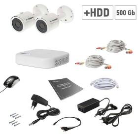 Комплект відеоспостереження Tecsar 2OUT+500ГБ HDD