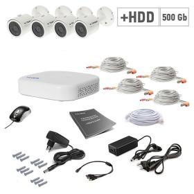 Комплект відеоспостереження Tecsar 4OUT+500ГБ HDD