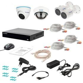 Комплект відеоспостереження Tecsar AHD 4MIX 5MEGA