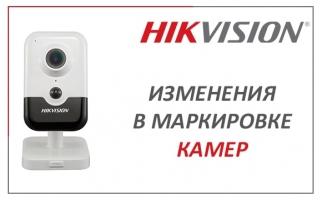 Разделение видеокамер EASYIP 1.0+ на модели D и W