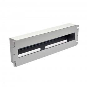 Панель 19'' 3U с DIN-рейкой, для 24-х автоматических выключателей, серая/черная