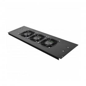 3-х вентиляторный блок в крышу для шкафов MGSE 610 шир., черный