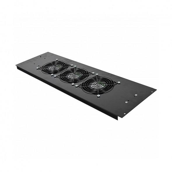 3-х вентиляторный блок в крышу для шкафов MGSE 610 шир., черный - фото