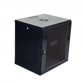 Шафа настінна 12U, 600x500x640мм (Ш * Г * В), економ, акрилове скло, сірий / чорний