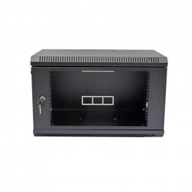 Шкаф настенный 6U, 600х350х373 мм (Ш*Г*В), акриловое стекло, серый/черный