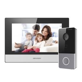 Комплект видеодомофон + вызывная панель Hikvision DS-KIS603-P