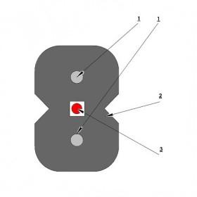 Кабель оптичний Одескабель ОКАД-М(0,1)Пнг-HF-1Е7