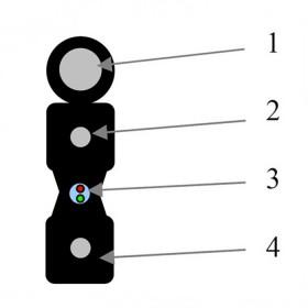 Кабель оптичний Одескабель ОКАД-ММ(1,0)Пнг-HF-1Е7