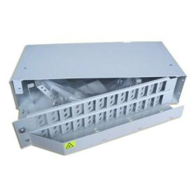 Патч панель оптична 19 2U під установку адаптерів